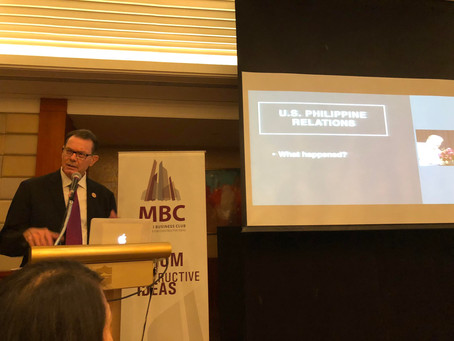 Makati Business Club & Global Risk Mitigation roundtable discussion and presentation