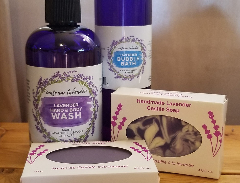 Lavender Bath Time Set