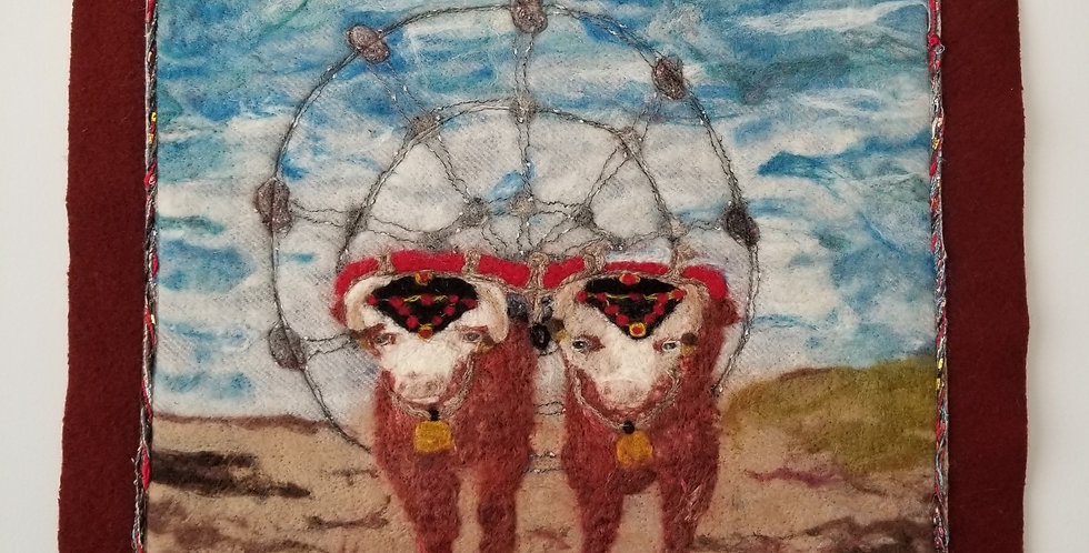 Oxen & Ferris Wheel - Hants County Exhibition Wall Art