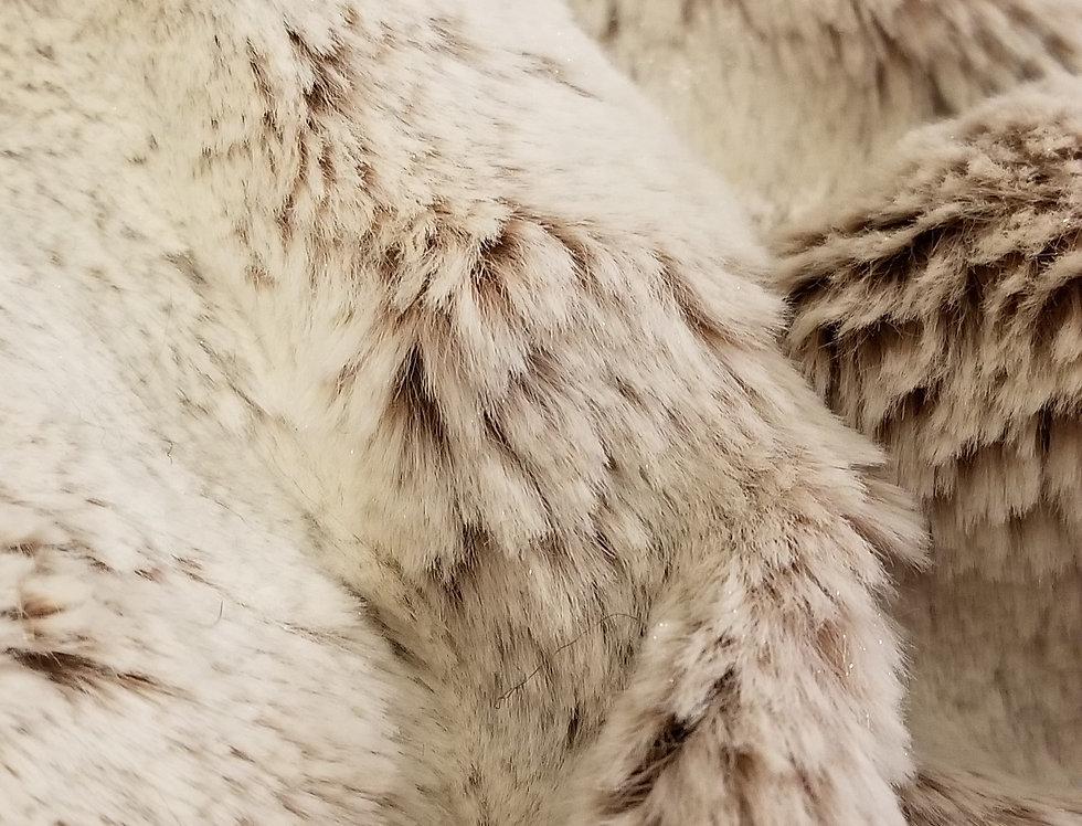 Creme Soft Faux Fur Pillow 18x18