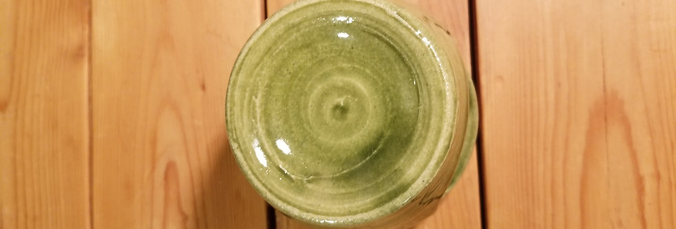 Tart Burner in a Green Glaze