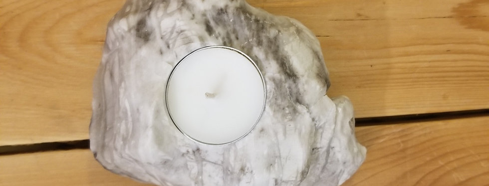 Anhydrite / Gypsum Candle - JS4
