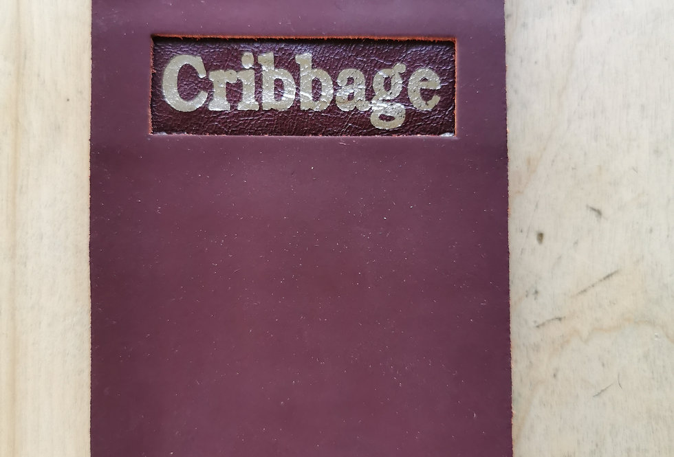 Burgundy Flat Cribbage Board with Metal Pegs