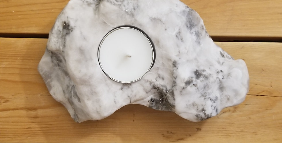 Anhydrite / Gypsum Candle - JS5