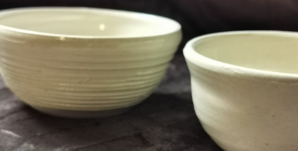 Dipping Bowl Set of 2 - Creme Glaze