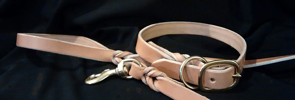 Brown Braided 6' Leash