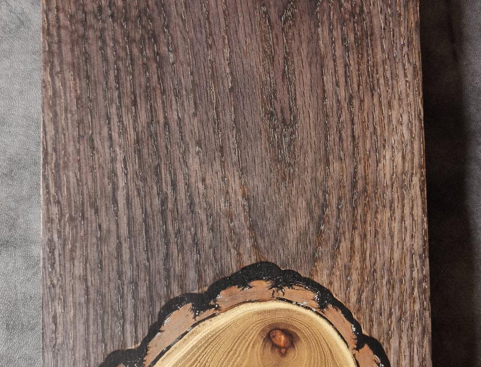 Charcuterie Board- Ebonized Oak with Black Locust