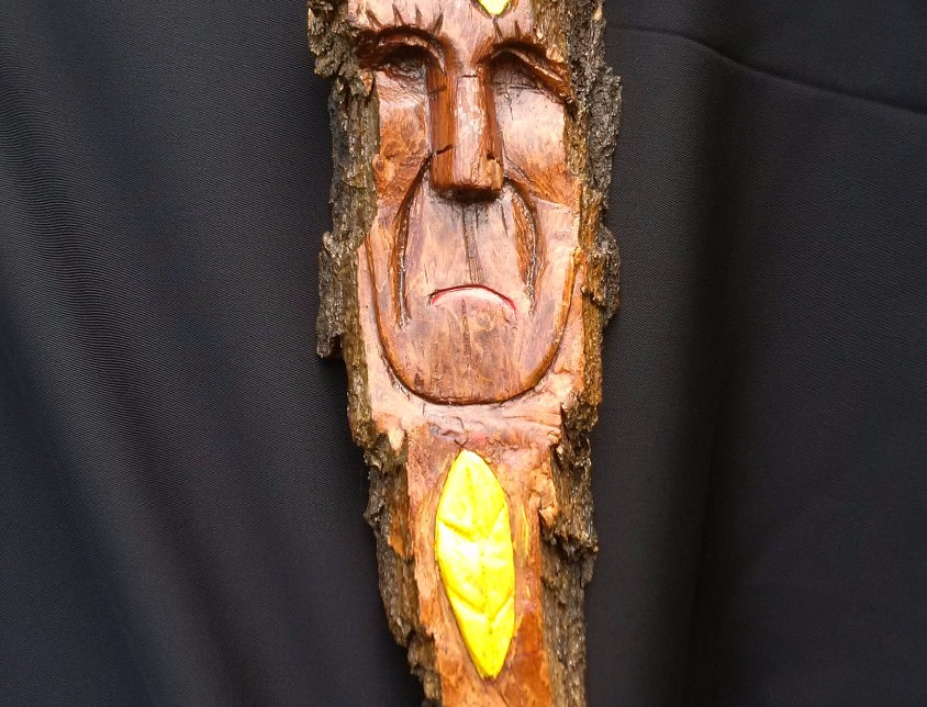 Bark Spirit Carving - Family (Cottonwood)