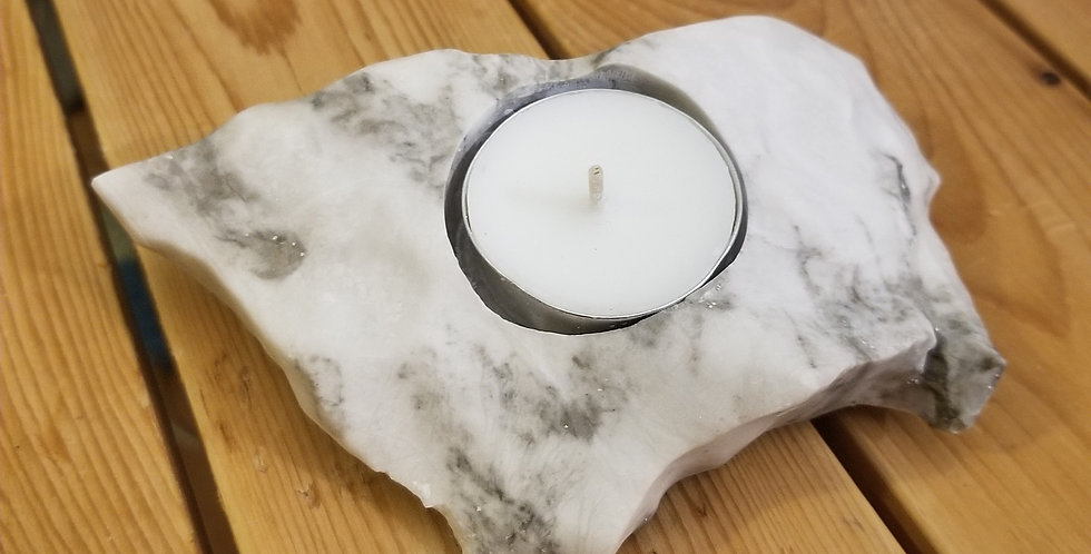 Anhydrite / Gypsum Candle - JS8