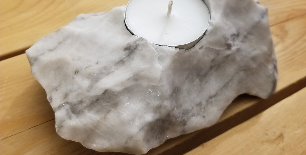 Anhydrite / Gypsum Candle - JS12