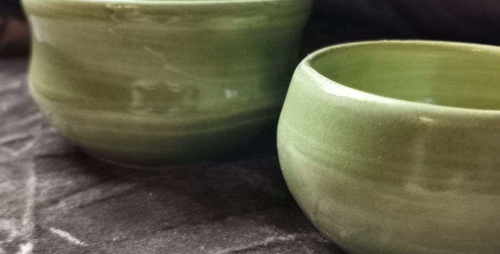 Dipping Bowl Set of 2 - Green Glaze