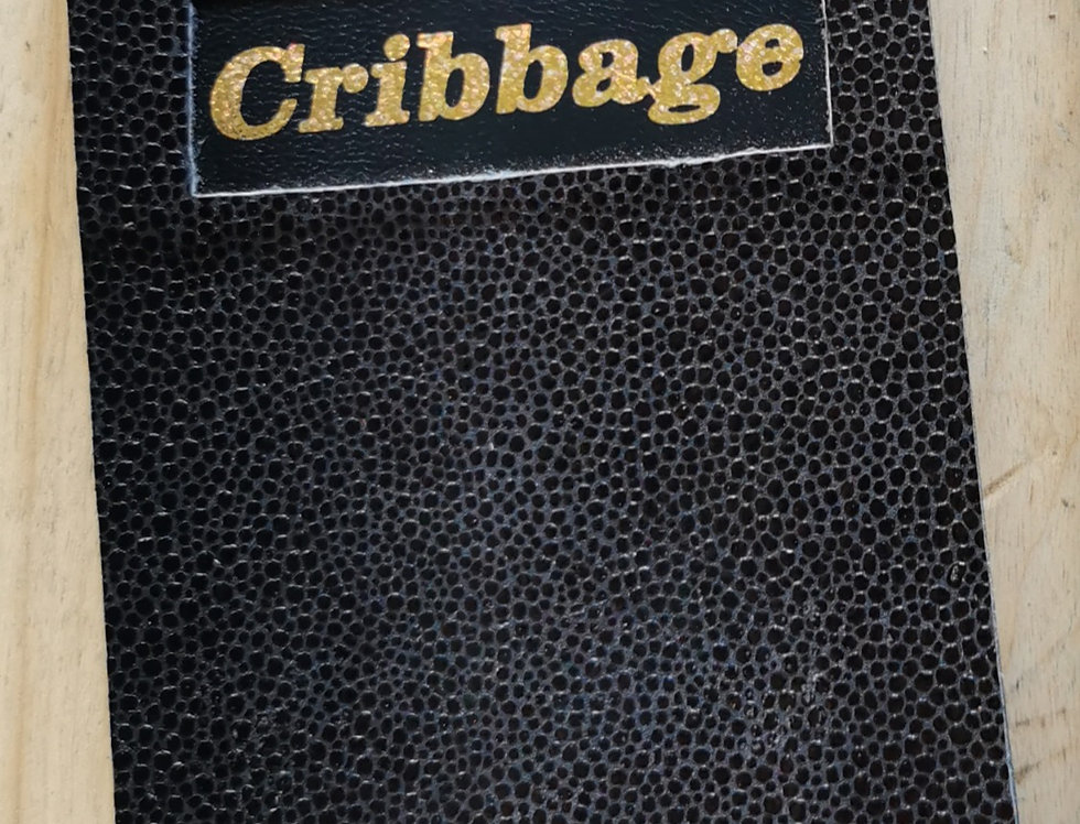 Black Leather Cribbage Board