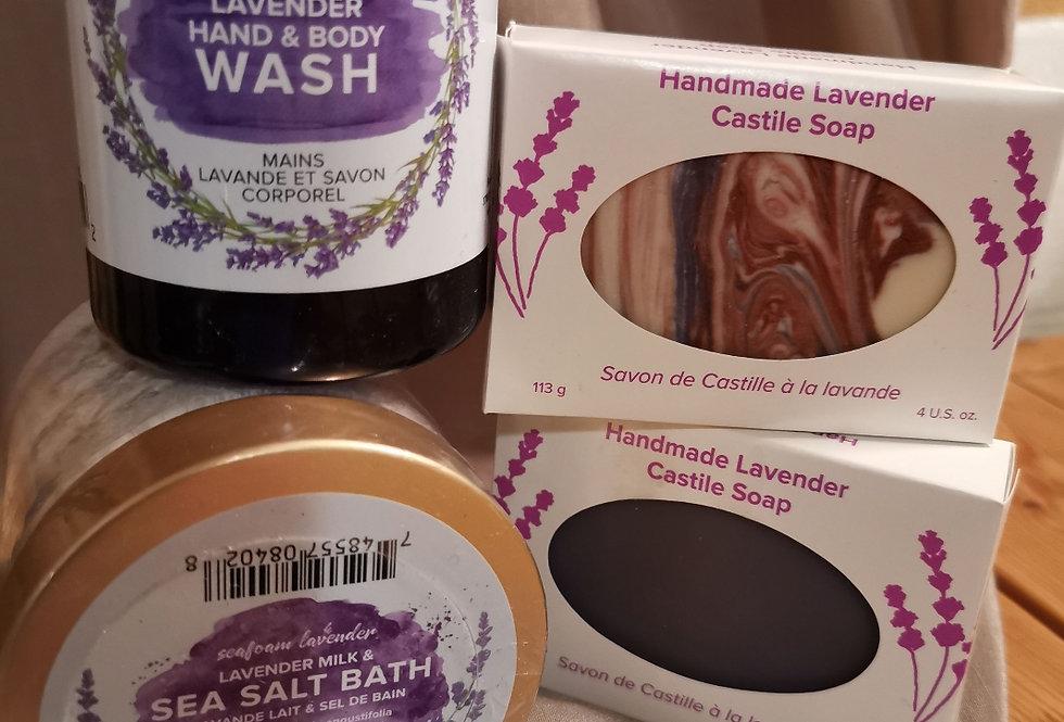 Lavender Bath Time Set with Sea Salts