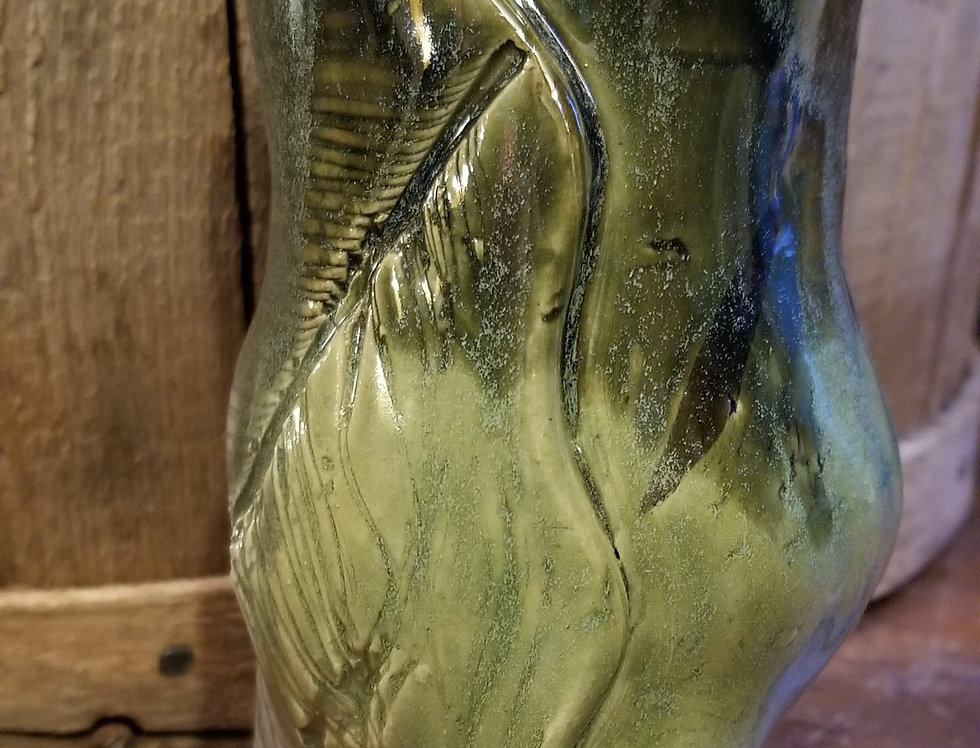 Tripod Vase Green-Grey Glaze