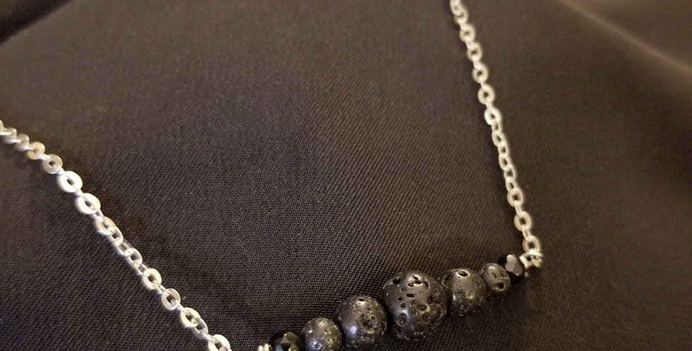 Lava Bead Necklace (for Essential Oils)