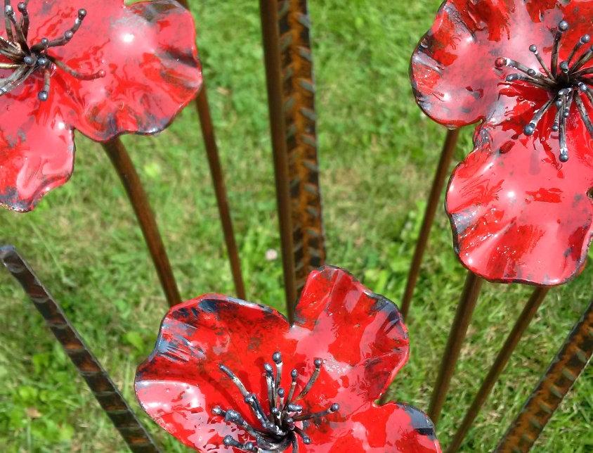 Red Poppies - Metal Art - Al Simms