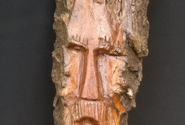 Bark Spirit Carving - Kind Heart (Cottonwood)