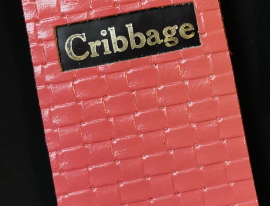 Pink Leather Cribbage Board with Metal Pegs