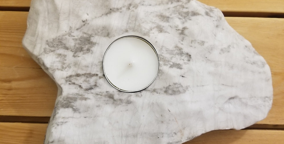 Anhydrite / Gypsum Candle - JS1