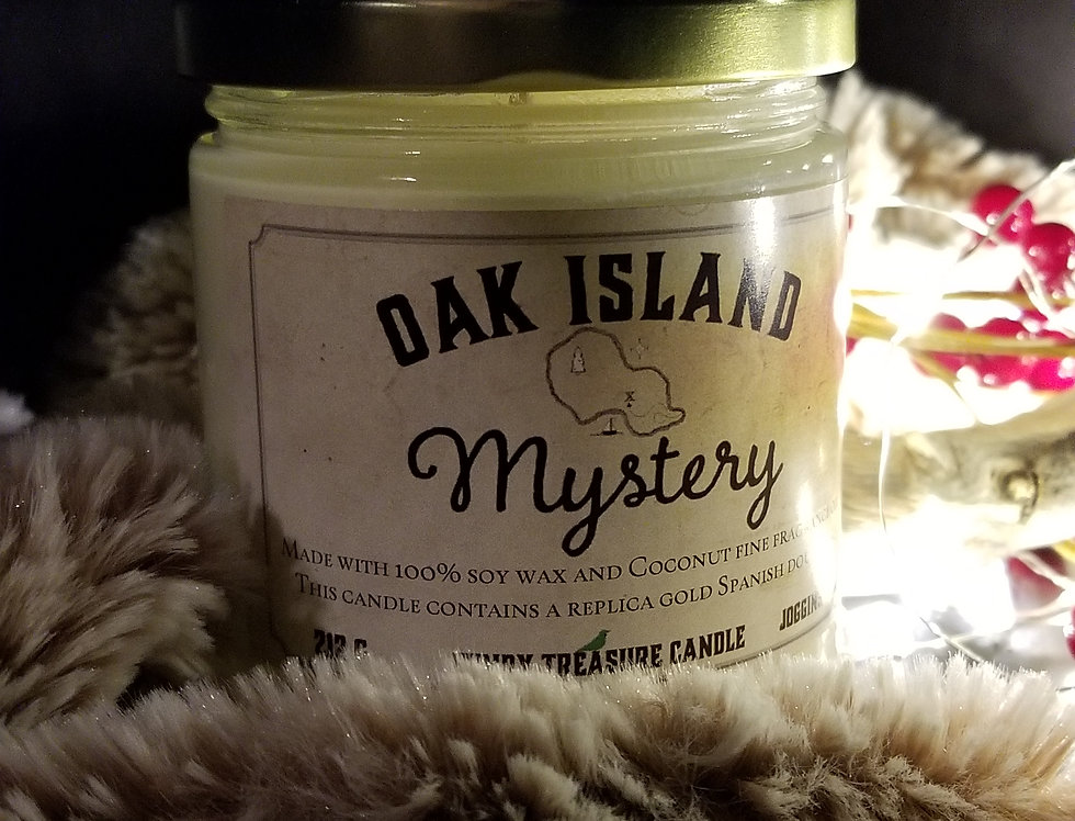 Oak Island Mystery Candle - Coconut with Doubloon Inside