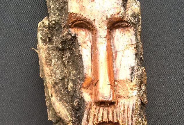 Bark Spirit Carving - Gentle Heart (Cottonwood)