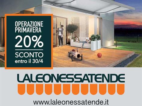 OPERAZIONE PRIMAVERA 20% DI SCONTO (Entro il 30/4)