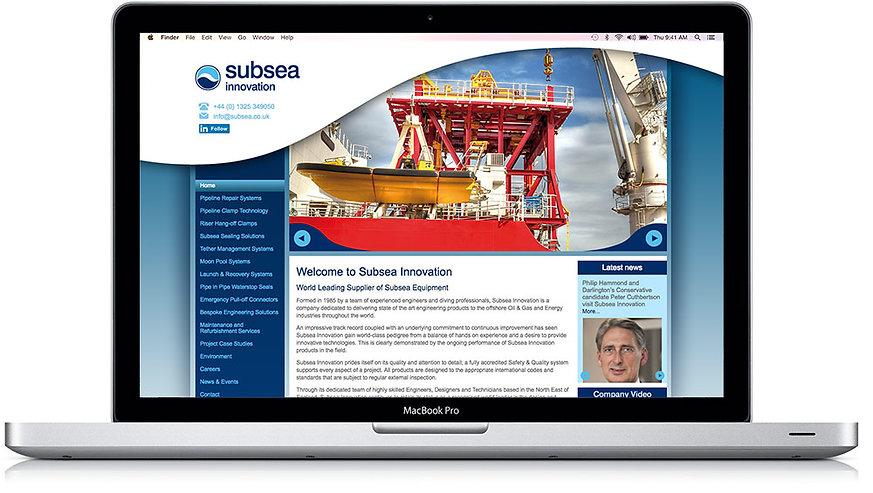 Subsea Innovation Website Design