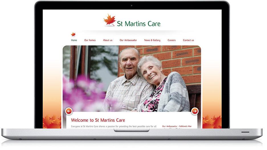 St Martins Care Website Design and Build