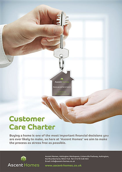 Ascent Homes Leaflet Design