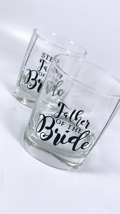Glass Tumbler, Personalised, Father of the Bride