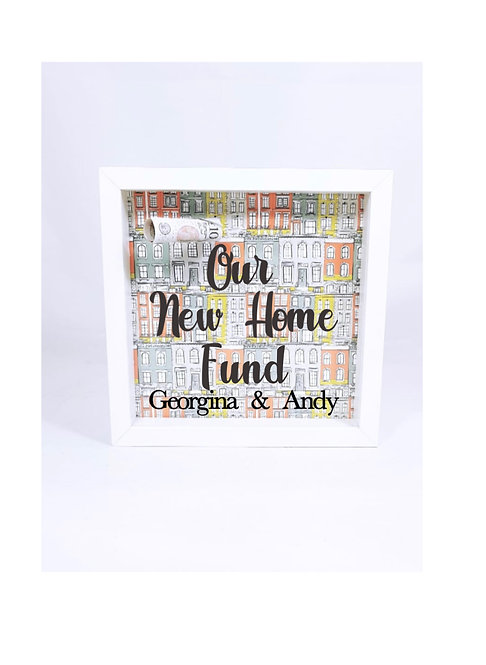 Personalised new home money box, riva gifts