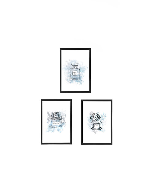 Perfume Watercolour Print, 10x15cm 3 pack