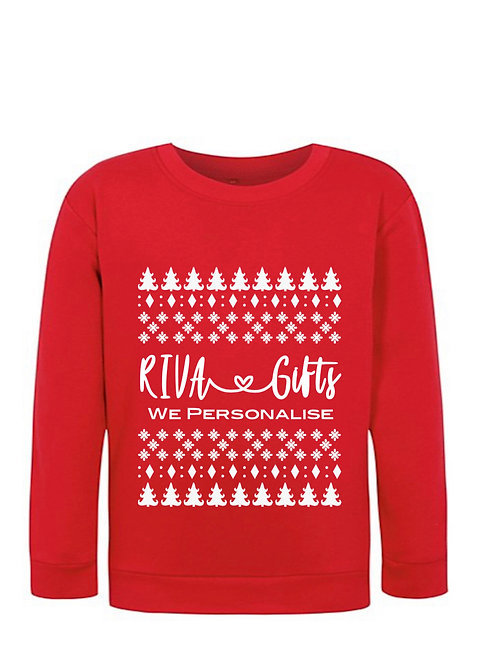 Christmas jumpers for businesses, add your logo, personalised sweater, personalised jumpers Weston super mare, riva gifts