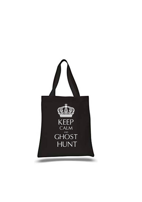 Keep cal and ghost hunt, Paranormal Investigation Canvas Tote, Medium, Persona