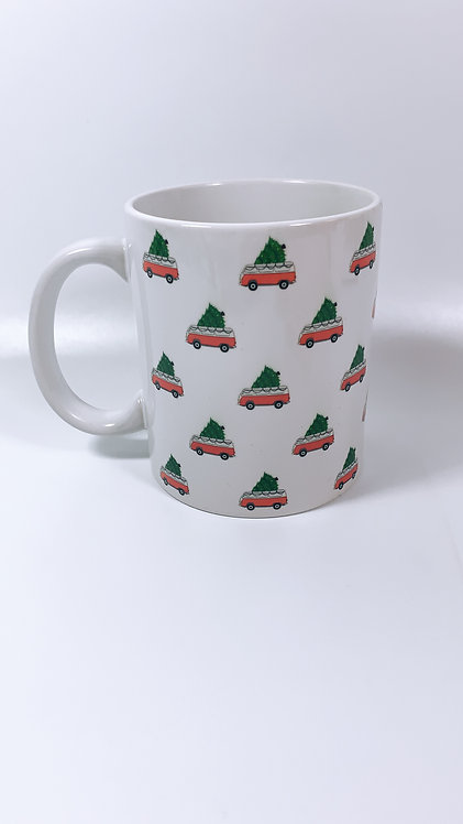 Lots of Mini Christmas Campers.. Mug