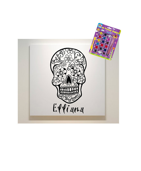 Paint Your Own Canvas with Poster Paints, Day Of The Dead