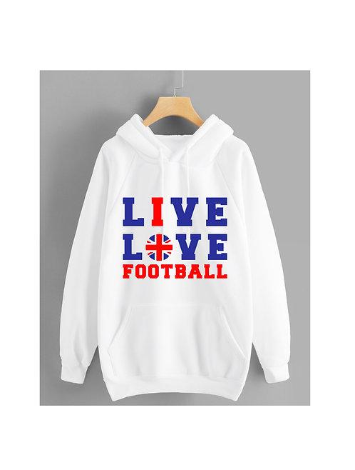 Live.. Love Hoodie Navy and Red, British