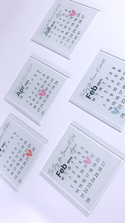 Personalised Date Coaster
