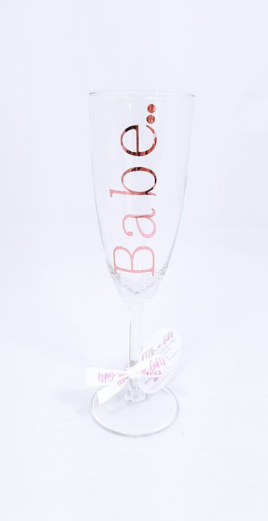 Flute Glass - Personalised, glass