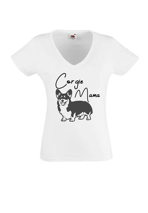 Corgi Mama T-Shirt, Personalised,dog
