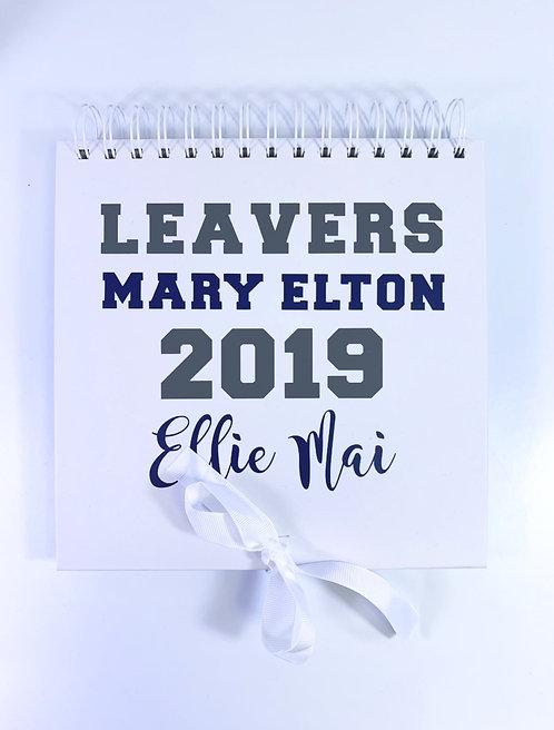 Personalised Leavers Scrap Book, Any School