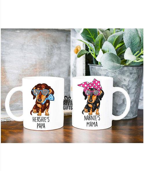Ceramic Mug, Love My Dachshund, Personalised