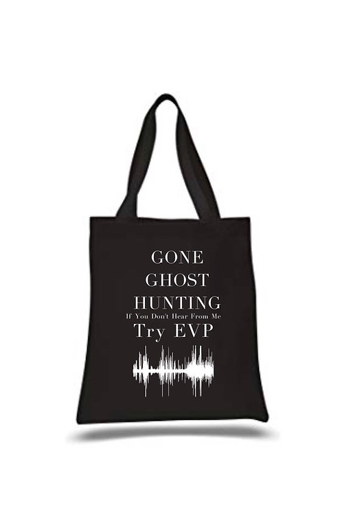 Gone Ghost hunting Paranormal Investigation Canvas Tote, Medium, Personalised