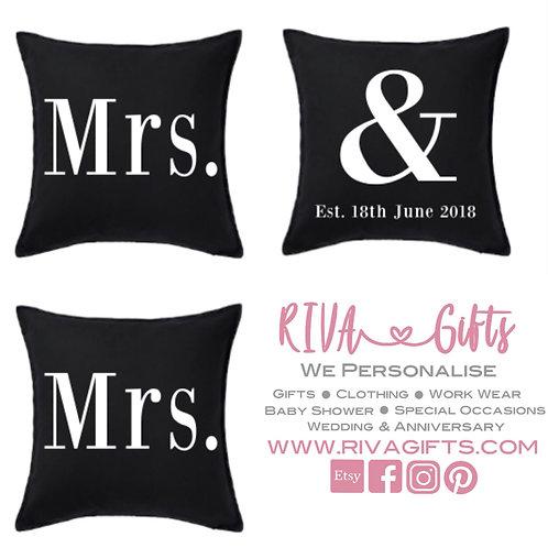 Mrs & Mrs Cushions (Pack of 3)