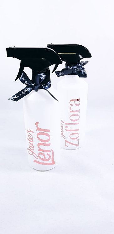 Personalised Spray Bottles Set of Two