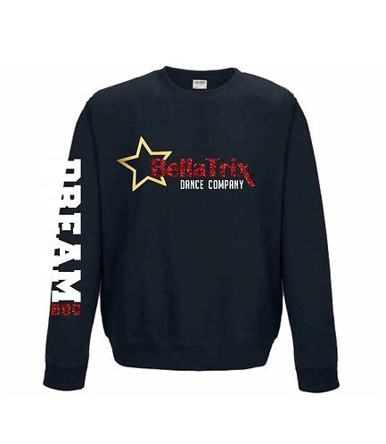 BellaTrix Sweatshirt, Personalised, Red, Black