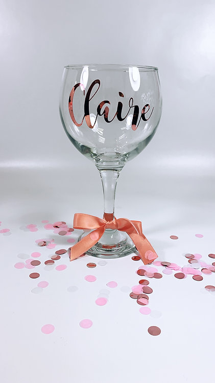 Gin Glass, large wine glass - Personalised, glass