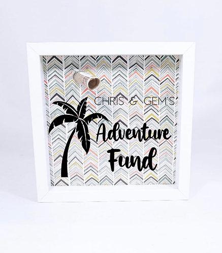 Travel Money Box Frame, Personalised, New Baby