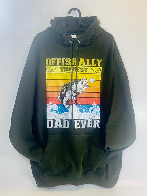 Offishally the best dad hoodie - fishing hoodie