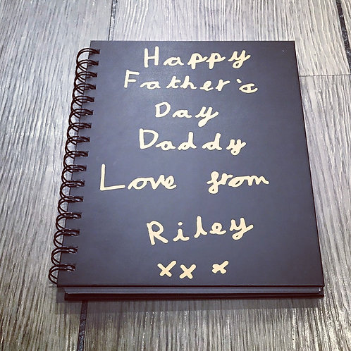 Personalised Childs handwritten book with coaster set, personalised